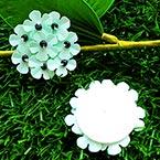 Sequin flower, Light blue, 1 Sequin flower, 3.3cm