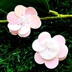 Sequin flower, Light pink, 1 Sequin flower, 2.7cm