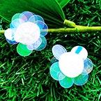 Sequin flower, Clear colour, 1 Sequin flower, 2.8cm