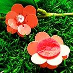 Sequin flower, Pinkish red, 1 Sequin flower, 2.7cm