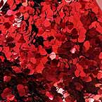 Sequins, Pinkish red, 6mm, 600 pieces, 5g, Heart shape, Sequins are shiny