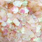Sequins, Clear colour, 10mm, 196 pieces, 5g, Heart shape, Sequins are shiny