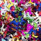 Sequins, Mixed colour, 17mm x 18mm, 150 pieces, 5g, Designer shapes, Sequins are shiny