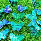 Sequins, Teal, 23mm x 30mm, 29 pieces, 5g, Butterfly shape, Sequins are shiny