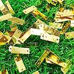 Sequins, Gold colour, 5mm x 14mm, 196 pieces, 5g, Rectangular, Sequins are shiny
