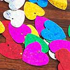 Sequins, Mixed colour, 20mm x 20mm, 45 pieces, 5g, Heart shape, Sequins are shiny