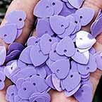 Sequins, Light purple, 10mm x 10mm, 200 pieces, 5g, Heart shape, Sequins are NOT shiny