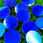 Sequins, Dark blue, 29mm, 22 pieces, 5g, Round shape, Sequins are shiny