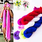 Extra long specially dyed nylon - Single colour