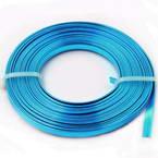 Flat coloured aluminium wire - 5mm