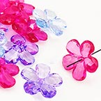 Lucite acrylic flower beads