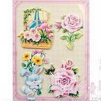 3D card embellishment stickers