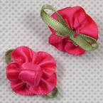 Small fabric flowers & roses