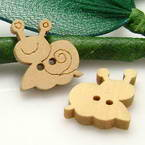 Wooden button - Animals Shape