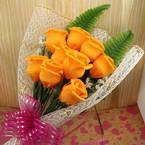 Nine Paper rose bouquet