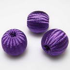 Cloth wrapped and Thread wrapped Bead