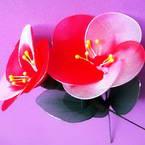 Nylon leaves for nylon flowers and Nylon flower petals for nylon flowers
