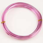 Round coloured aluminium wire - 3mm