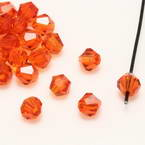 Crystal beads - Faceted Bicones 4mm