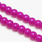 Colour opaque glass beads - 6mm