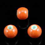 Round porcelain beads - Colour - 8mm