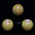 Round porcelain beads - Speckled pattern