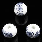 Round porcelain beads - Other pattern