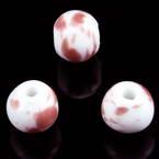 Round porcelain beads - Swirl pattern