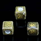 Porcelain beads, non-round shape