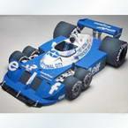 3D paper model, Paper, blue, white, 10cm, 1 3D paper model