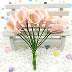 Calla lily - foam, foam, pink, 12 flowers