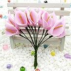 Calla lily - foam, foam, Light purple, 12 flowers