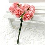 Rose, Paper, Magenta, 1cm, 12 flowers