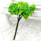 Rose, Paper, green, 1cm, 12 flowers