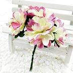 Chrysanthemum, Paper, Cream colour, 3cm, 6 flowers
