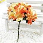 Chrysanthemum, Paper, Light Yellow, 3cm, 6 flowers