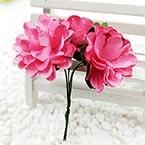 Chrysanthemum, Paper, Dark red, 3cm, 6 flowers
