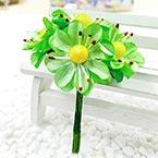 Chrysanthemum, Paper, Light green, 2.5cm, 6 flowers