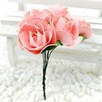 Rose, Paper, pink, 2.5-3cm, 6 flowers