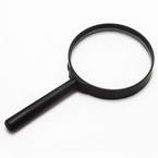 Magnifying glass, Glass and Plastic, 1 Magnifying glass, 15cm x 8cm x 1.4cm, 5