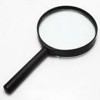 Magnifying glass, Glass and Plastic, 1 Magnifying glass, 18cm x 9.5cm x 1.5cm, 3