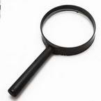 Magnifying glass, Glass and Plastic, 1 Magnifying glass, 13cm x 6.3cm x 1.4cm, 5