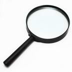 Magnifying glass, Glass and Plastic, 1 Magnifying glass, 19.7cm x 10.4cm x 1.8cm, 3