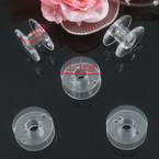 Sewing machine bobbins, Plastic, Colourless, 2.1cm x 1.1cm, 3 pieces