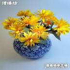 Paper flower making material only, Yellow, 1 flowers, Dendranthemum