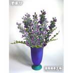 Paper flower making kit, purple, Aconitum, 8 flowers