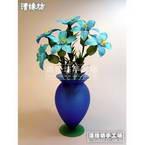 Paper flower making kit, Light blue, Lilium oriental, 6 flowers