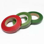 Florist tape, Paper, Burgandy, Dark green, green, 29m x 1.2cm, 3 pieces