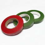 Florist tape, Paper, Burgandy, green, 29m x 1.2cm, 3 pieces