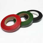 Florist tape, Paper, Dark green, Burgandy, black, 29m x 1.2cm, 3 pieces